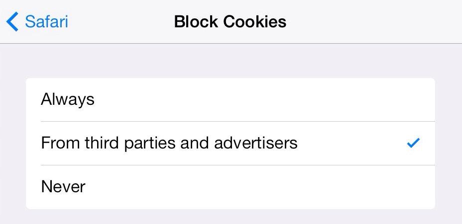 how to turn on google cookies on ipad